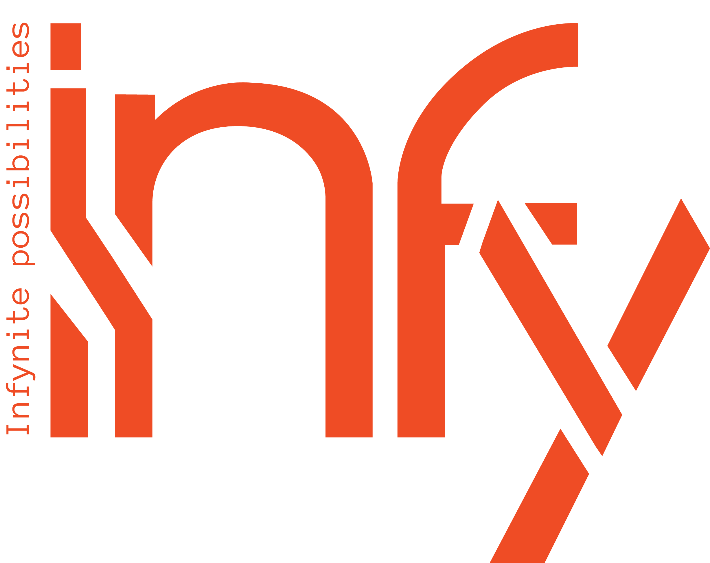 Orange InFY Logo with a tagline Infynite Possibilities